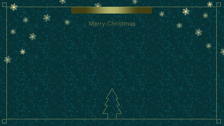 クリスマスのフリー背景素材03green