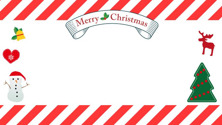 クリスマスのフリー背景素材04