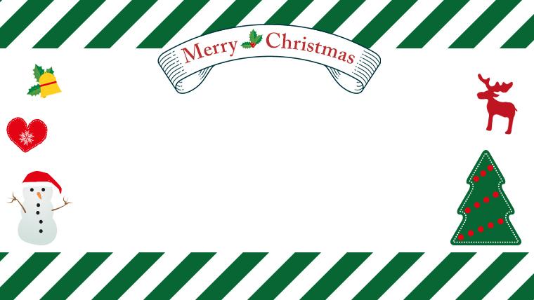 クリスマスのフリー背景素材04green