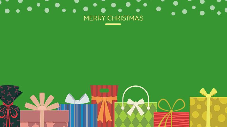 クリスマスのフリー背景素材06green