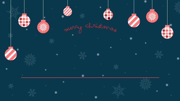 クリスマスのフリーの背景素材02ネイビー