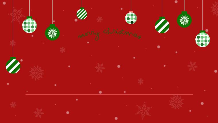 クリスマスのフリーの背景素材02レッド