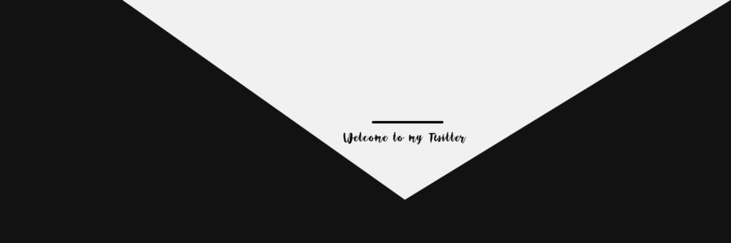 Twitterヘッダーデザイン素材01black