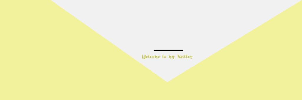 Twitterヘッダーデザイン素材01yellow