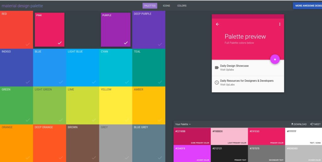 materialdesignpalettes