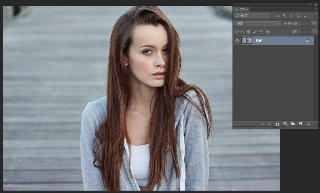 Photoshopで人物や髪の毛を切り抜き01