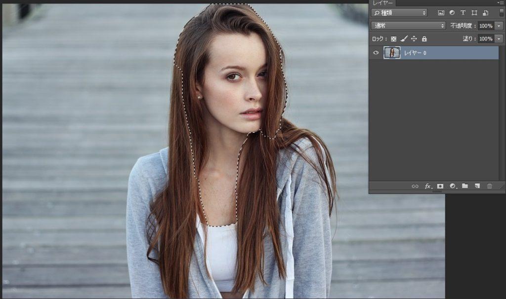 Photoshopで人物や髪の毛を切り抜き04