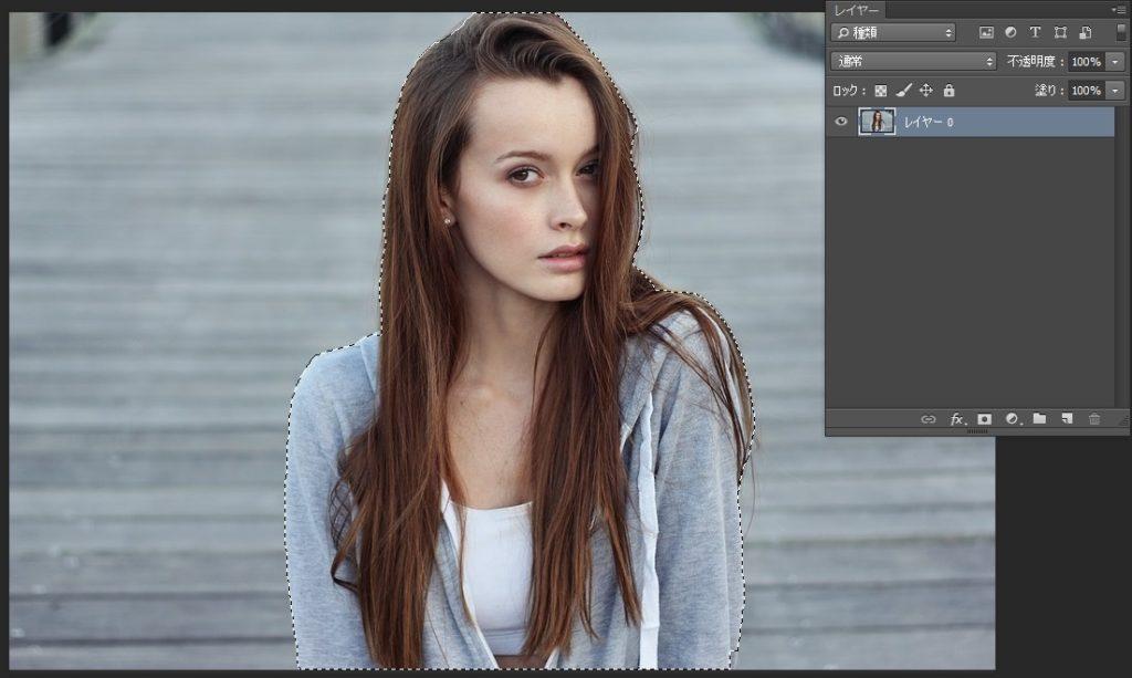 Photoshopで人物や髪の毛を切り抜き05