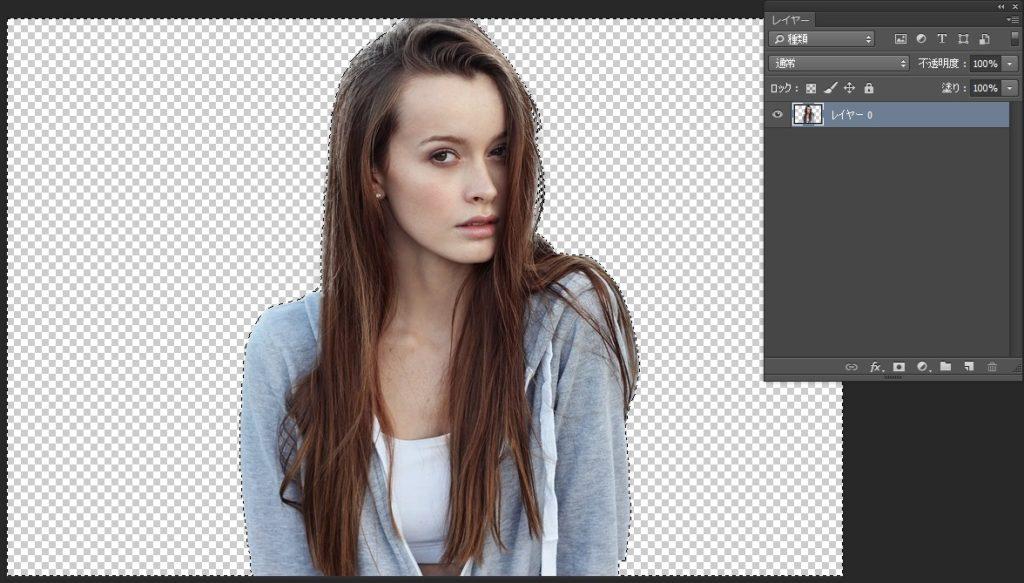 Photoshopで人物や髪の毛を切り抜き13