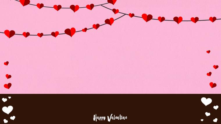 バレンタインの可愛い背景フリー素材02pinkjpg