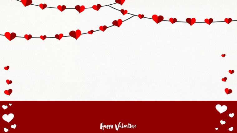 バレンタインの可愛い背景フリー素材02white