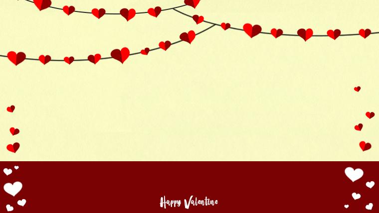 バレンタインの可愛い背景フリー素材02yellow
