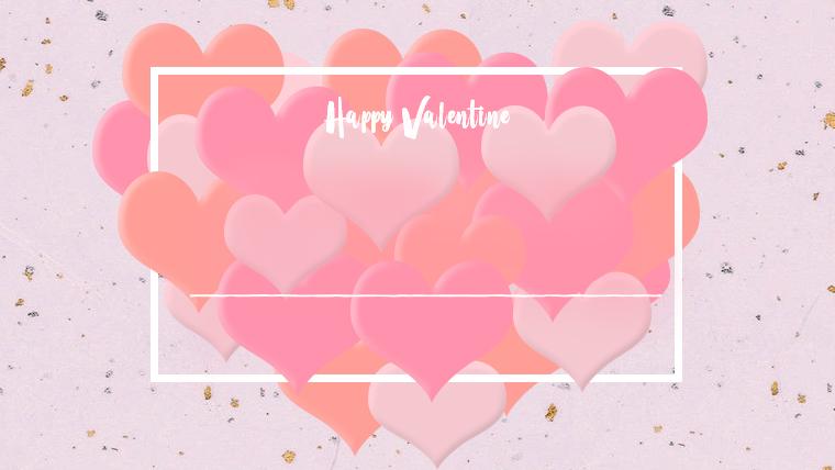 バレンタインの可愛い背景フリー素材04