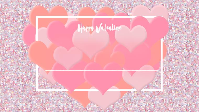 バレンタインの可愛い背景フリー素材04kirakira
