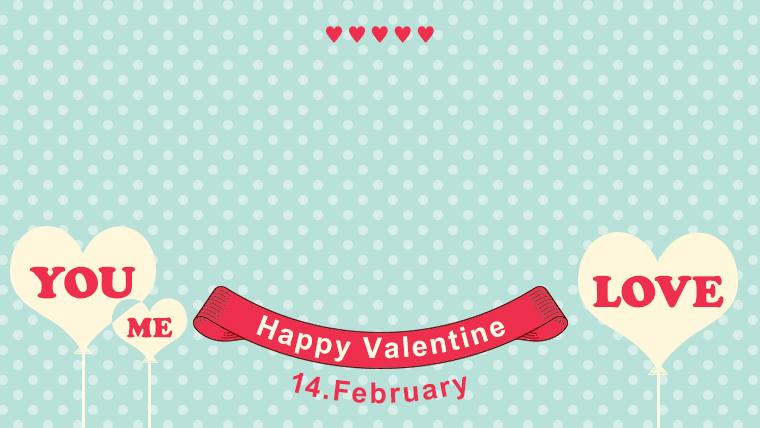バレンタインの可愛い背景フリー素材05blue