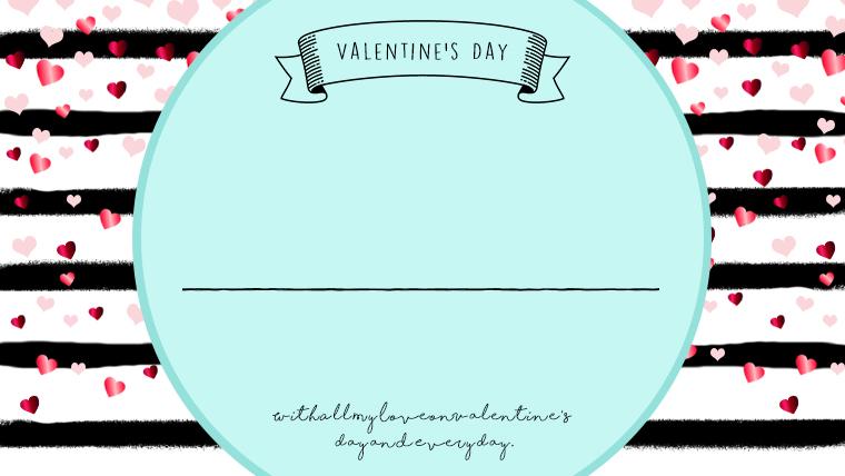 バレンタインの可愛い背景フリー素材06bule