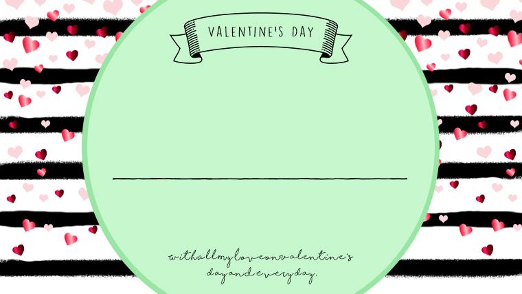 バレンタインの可愛い背景フリー素材06green