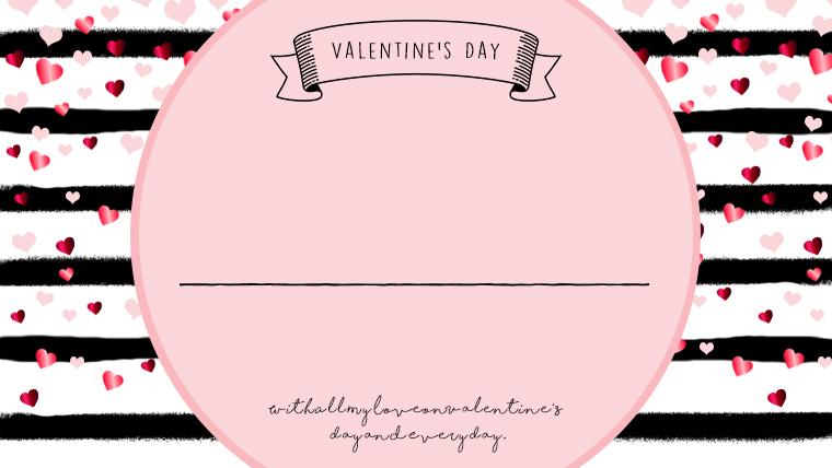 バレンタインの可愛い背景フリー素材06pink