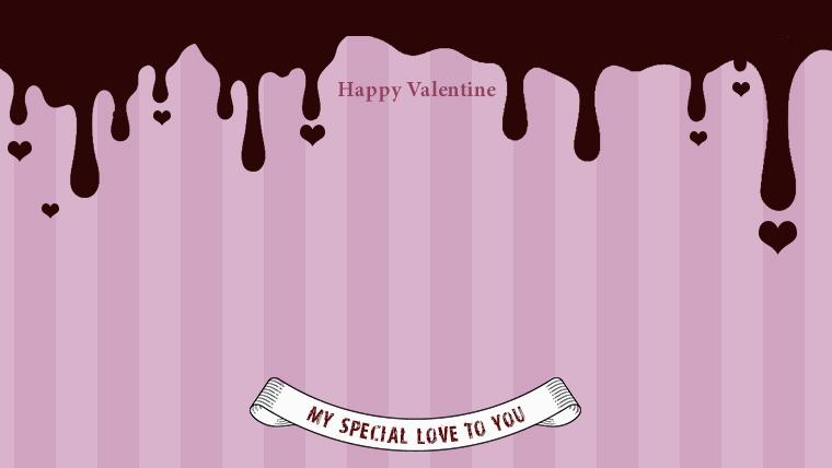 バレンタインの可愛い背景フリー素材09pink