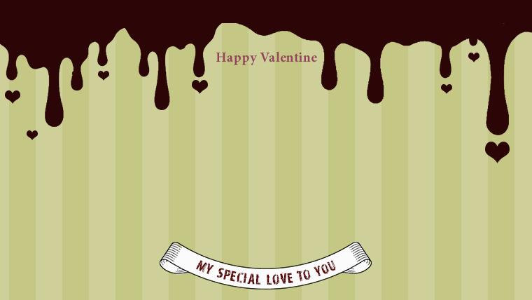 バレンタインの可愛い背景フリー素材09yellow