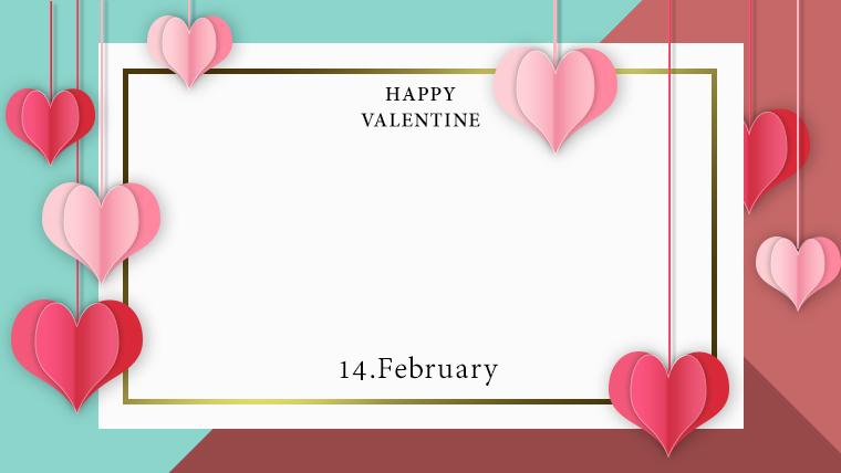 バレンタインの可愛い背景フリー素材10green