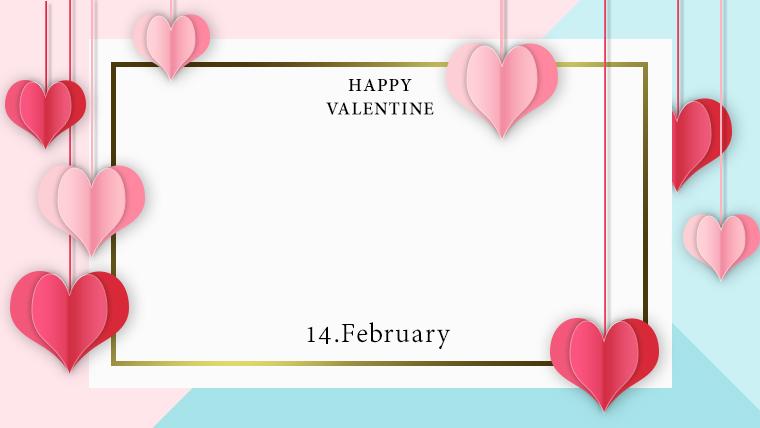 バレンタインの可愛い背景フリー素材10pink