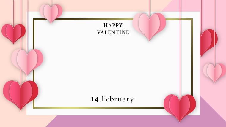 バレンタインの可愛い背景フリー素材10pink2