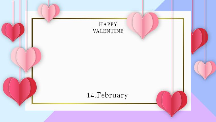バレンタインの可愛い背景フリー素材10purple