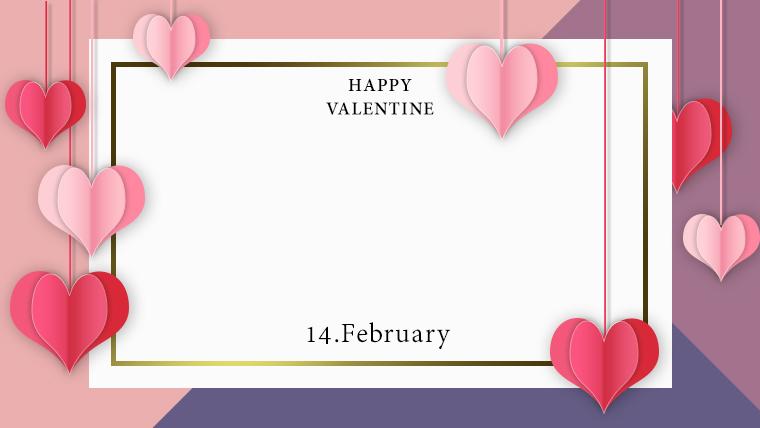 バレンタインの可愛い背景フリー素材10purple2