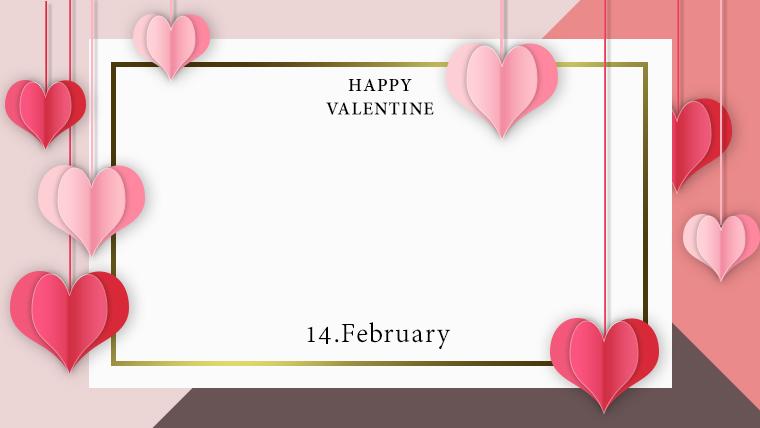 バレンタインの可愛い背景フリー素材10redbrown