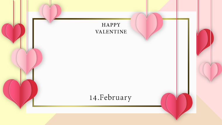 バレンタインの可愛い背景フリー素材10yellow