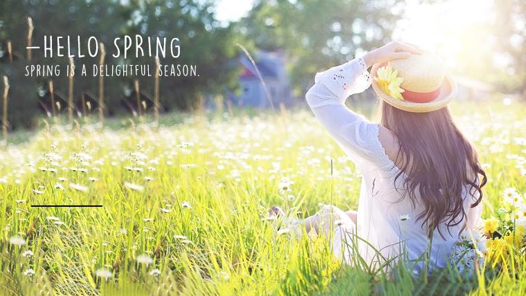 春に使えるかわいい背景のフリー素材04