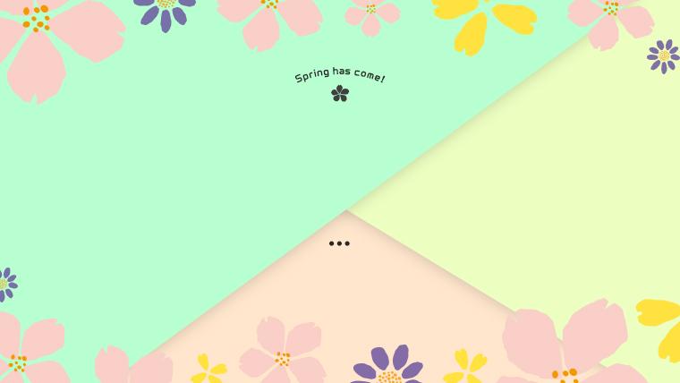 春に使えるかわいい背景のフリー素材05green
