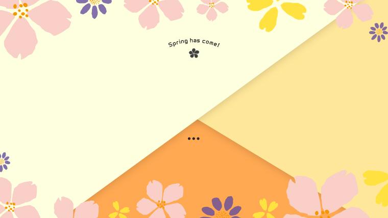 春に使えるかわいい背景のフリー素材05orange