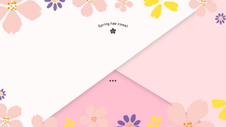 春に使えるかわいい背景のフリー素材05pink