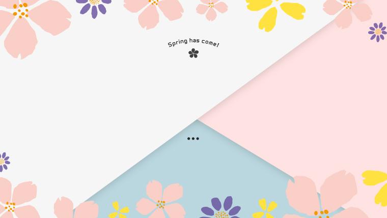 春に使えるかわいい背景のフリー素材05pinkblie