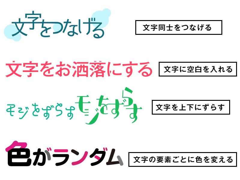 イラストレーターで日本語文字を加工してロゴを作る