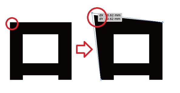 【超簡単】イラストレーターで文字を加工したロゴの作り方4つ04
