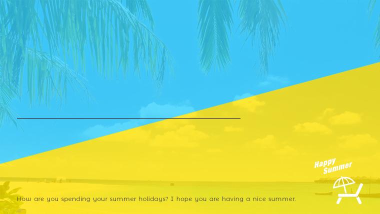 夏に使えるかわいい背景のフリー素材02sample