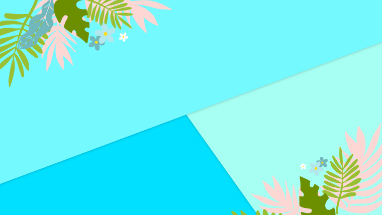 夏に使えるかわいい背景のフリー素材04_blue