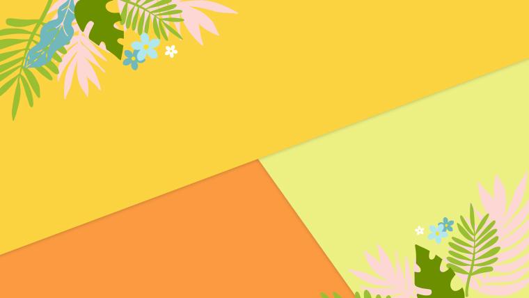 夏に使えるかわいい背景のフリー素材04_orange