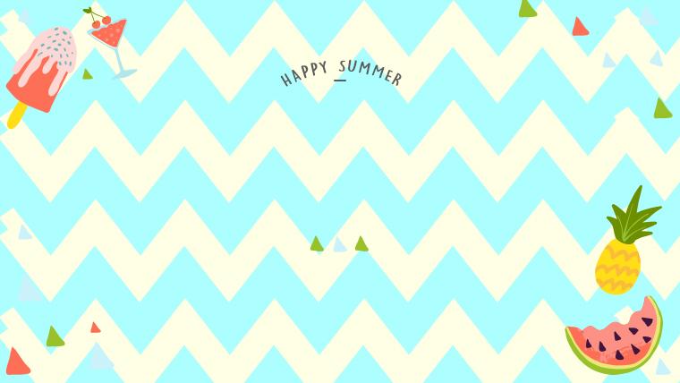 夏に使えるかわいい背景のフリー素材05_blie