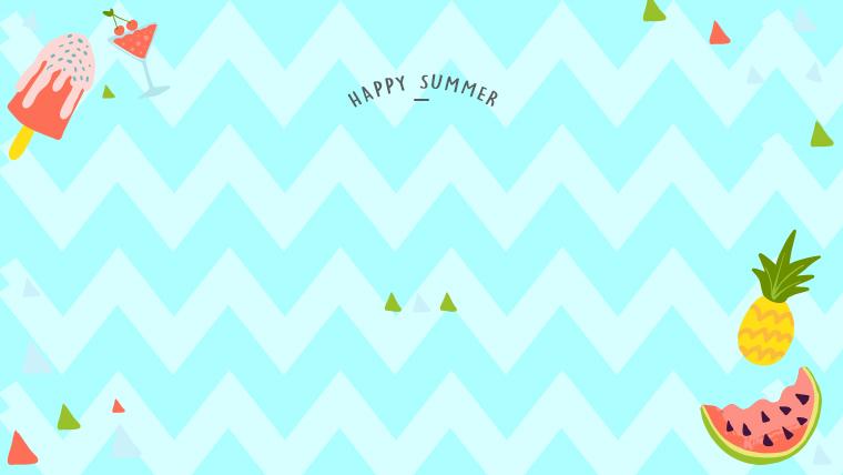 夏に使えるかわいい背景のフリー素材05_blue2