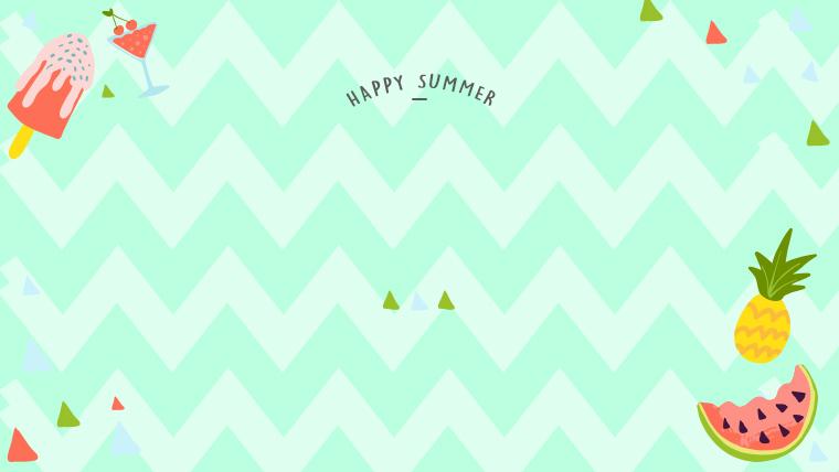 夏に使えるかわいい背景のフリー素材05_gleen