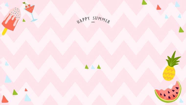 夏に使えるかわいい背景のフリー素材05_pink