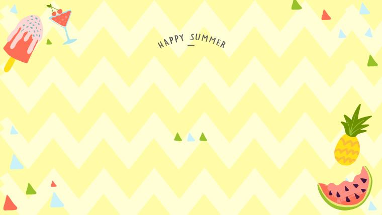 夏に使えるかわいい背景のフリー素材05_yellow
