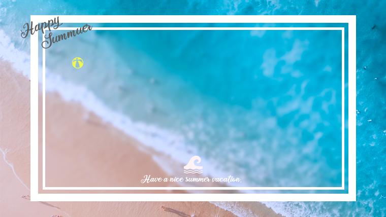 夏に使えるかわいい背景のフリー素材07