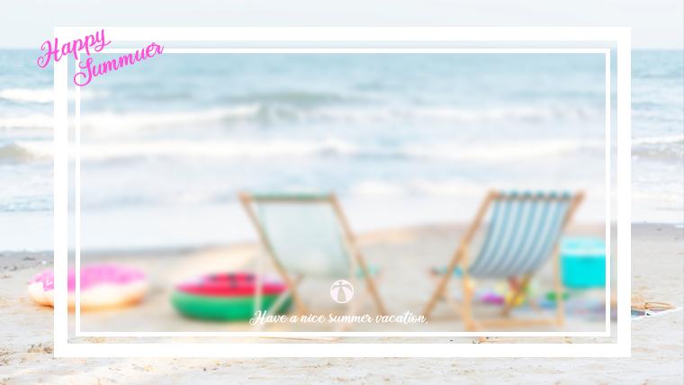 夏に使えるかわいい背景のフリー素材07_beach