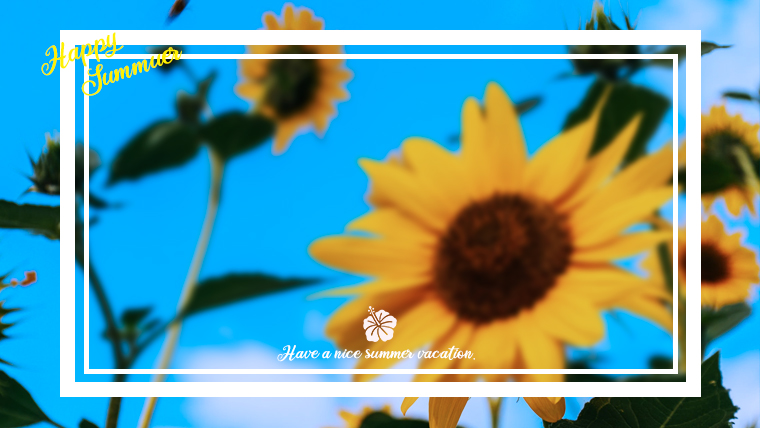 夏に使えるかわいい背景のフリー素材07_flower
