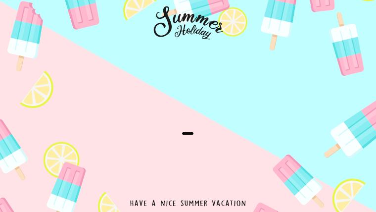 夏に使えるかわいい背景のフリー素材14_pinkblie